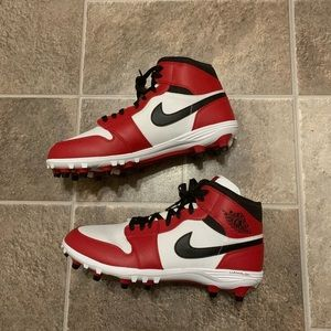 Nike Air Jordan 1 TD Mid Football Cleats Chicago